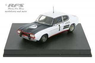 Ford Capri 2600 RS - 12h Paul Ricard 1971<br />Graham Hill / John Surtees  -  # 1<br />1:43 - Trofeu 2313