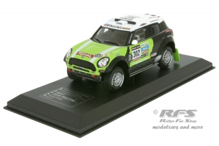 Mini All4 Racing - Rallye Dakar 2013<br />Stephane Peterhansel / Jean-Paul Cottret  -  # 302<br />1:43 - IXO DCC Collection 13-DA-302