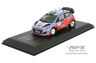 Hyundai i20 WRC - Rally Sardinia 2015<br />Hayden Paddon / John Kennard  -  # 20<br />1:43 - IXO DCC Collection 15-SA-020