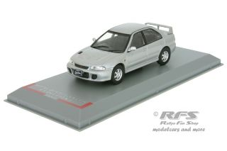 Mitsubishi Lancer Evo I<br />1992  -  silber<br />1:43 - Whitebox WB 243