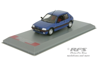 Peugeot 205 GTI<br />1992 - metallic blau<br />1:43 - Whitebox WB 244