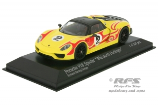 Porsche 918 Spyder - Weissach Package<br />Kyalami Racing Design - 2015<br />1:43 - Minichamps 410062134