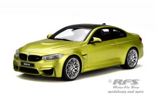 BMW M4 F82 Competition Package<br />2014 - gelb metallic / carbon<br />1:18 - GT Spirit 164