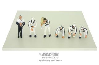 Figuren Set - Boxencrew<br />Martini Racing Team<br />1:43 - TSM Model 10AC06