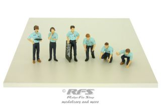 Figuren Set - Formel 1 1976  Boxen Crew<br />Tyrrell Racing Team<br />1:43 - TSM Model 12AC13