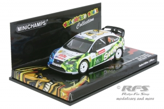 FORD FOCUS RS RALLY STOBART<br />ROSSI/CASSINA ? WALES RALLY 2008<br />1:43 - Minichamps 400088146