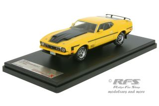 Ford Mustang Mach 1<br />1971 - yellow black<br />1:43 - Premium X - PR 397