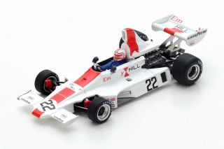 Hill GH1 Cosworth - Alan Jones<br />Formel 1 British GP 1975  -  # 22<br />1:43 - Spark 5675
