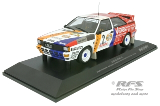 Audi Quattro A2 - Hunsrück Rallye 1984<br />Harald Demuth / Willy Lux  -  # 2<br />1:18 - Minichamps 155841102