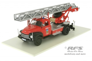 Magirus DL18 Opel Blitz - Fire Brigade 1960<br />wagon with rotating ladder - Fire Brigade Jettingen<br />1:43 - Altaya IXO - AL FW-107b