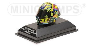 Valentino Rossi - AGV Helm<br />MotoGP 2017 - Tribute to Angel Nieto &amp; Nicky Hayden<br />1:8 - Minichamps 399170056