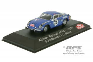 Alpine Renault A110 - Rallye Monte Carlo 1971<br />Ove Andersson / David Stone  -  # 28<br />1:43 - Atlas Collections - AL EAC1971MC28