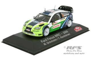 Ford Focus RS WRC - Rallye Monte Carlo 2006<br />Marcus Grönholm / Timo Rautiainen  -  # 3<br />1:43 - Atlas Collections - AL EAC2006MC03