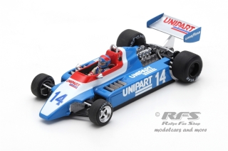 Ensign N180 Ford - Jan Lammers<br />Formula 1 British GP 1980  -  # 14<br />1:43 - Spark 5306