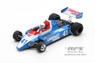 Ensign N180 Ford - Geoff Lees<br />Formula 1 Dutch GP 1980  -  # 41<br />1:43 - Spark 5307