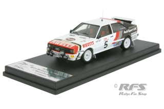 Audi Quattro - 19. International Welsh Rally 1982<br />Björn Waldegard / Phil Short  -  # 5<br />1:43 - Trofeu RRuk21