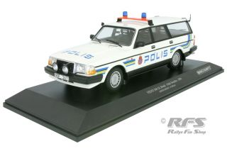 Volvo 240 GL Break<br />1986 - Police Polis Sweden<br />1:18 - Minichamps 155171480
