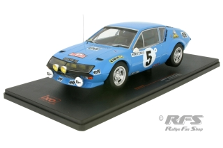 Renault Alpine A310 - Rally Monte Carlo 1975<br />Jean-Luc Therier / Michel Vial  -  # 5<br />1:18 - IXO 18RMC036A
