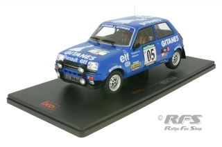 Renault 5 Alpine - Rally Bandama Cote d\'Ivoire 1978<br />Guy Frequelin / Jacques Delaval  -  # 05<br />1:18 - IXO 18RMC043B