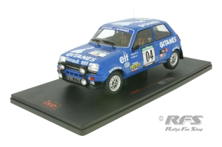 Renault 5 Alpine - Rally Bandama Cote d\'Ivoire 1978<br />Jean Ragnotti / Jean-Marc Andrie  -  # 04<br />1:18 - IXO 18RMC043A