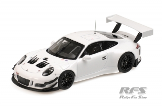 Porsche 911 (991) GT3 R<br />Plain Body Version white - 2018<br />1:43 - Minichamps 413186799